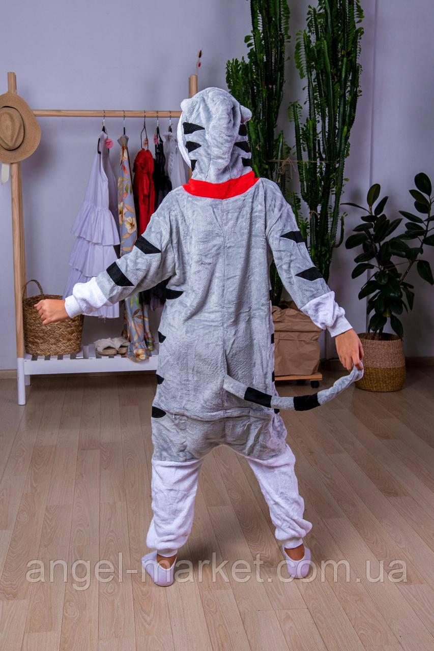Пижама кигуруми кошечка детская теплая велсофт (ворсистый флис)