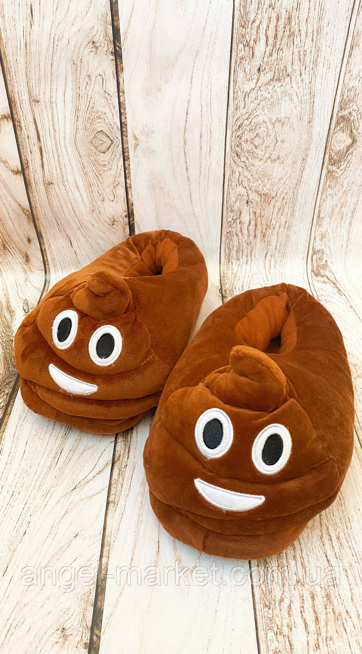 Мягкие тапки коричневые теплый прочный мягкий флис нескользящая подошва