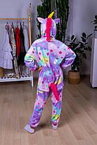 Пижама кигуруми звездный единорог детская теплая велсофт (ворсистый флис)