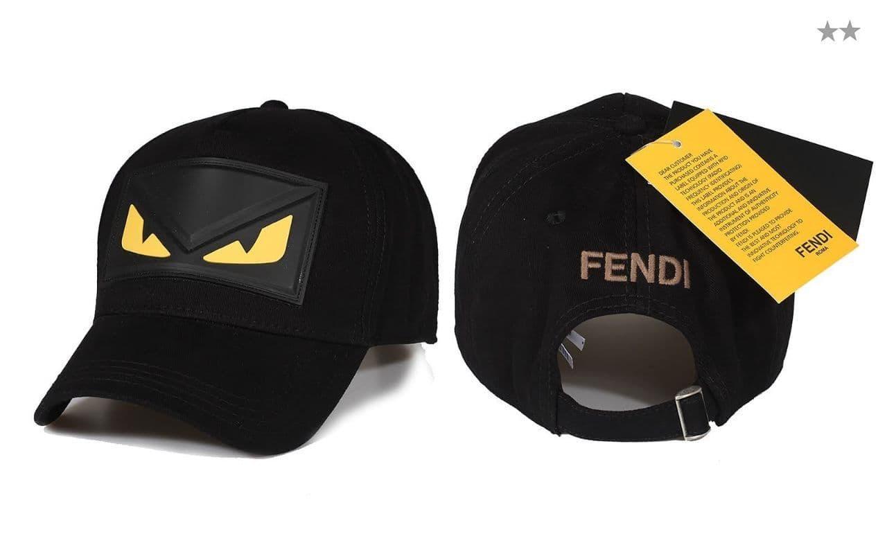 Брендовая кепка Fendi CK1626 черная