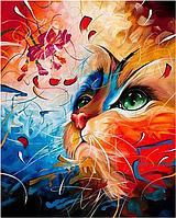 Картины по номерам 40×50 см. Babylon. Радужный кот. Художник Ким Хаскинс.