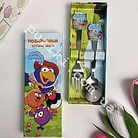 Подарочный детский наборстоловыхприборов Смешарики