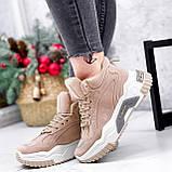 Ботинки женские Felix беж ЗИМА 2808, фото 7