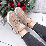 Ботинки женские Felix беж ЗИМА 2808, фото 9
