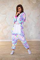 Пижама кигуруми звездный единорог теплая велсофт (ворсистый флис), фото 1