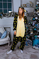 Пижама кигуруми единорог лунный теплая велсофт (ворсистый флис), фото 1