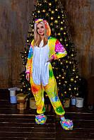 Пижама кигуруми космический единорог теплая велсофт (ворсистый флис), фото 1
