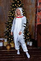 Пижама кигуруми кошечка теплая велсофт (ворсистый флис), фото 1