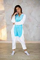 Пижама кигуруми пегас голубой теплая велсофт (ворсистый флис), фото 1