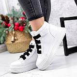 Ботинки женские Nies белые ЗИМА 2806, фото 2