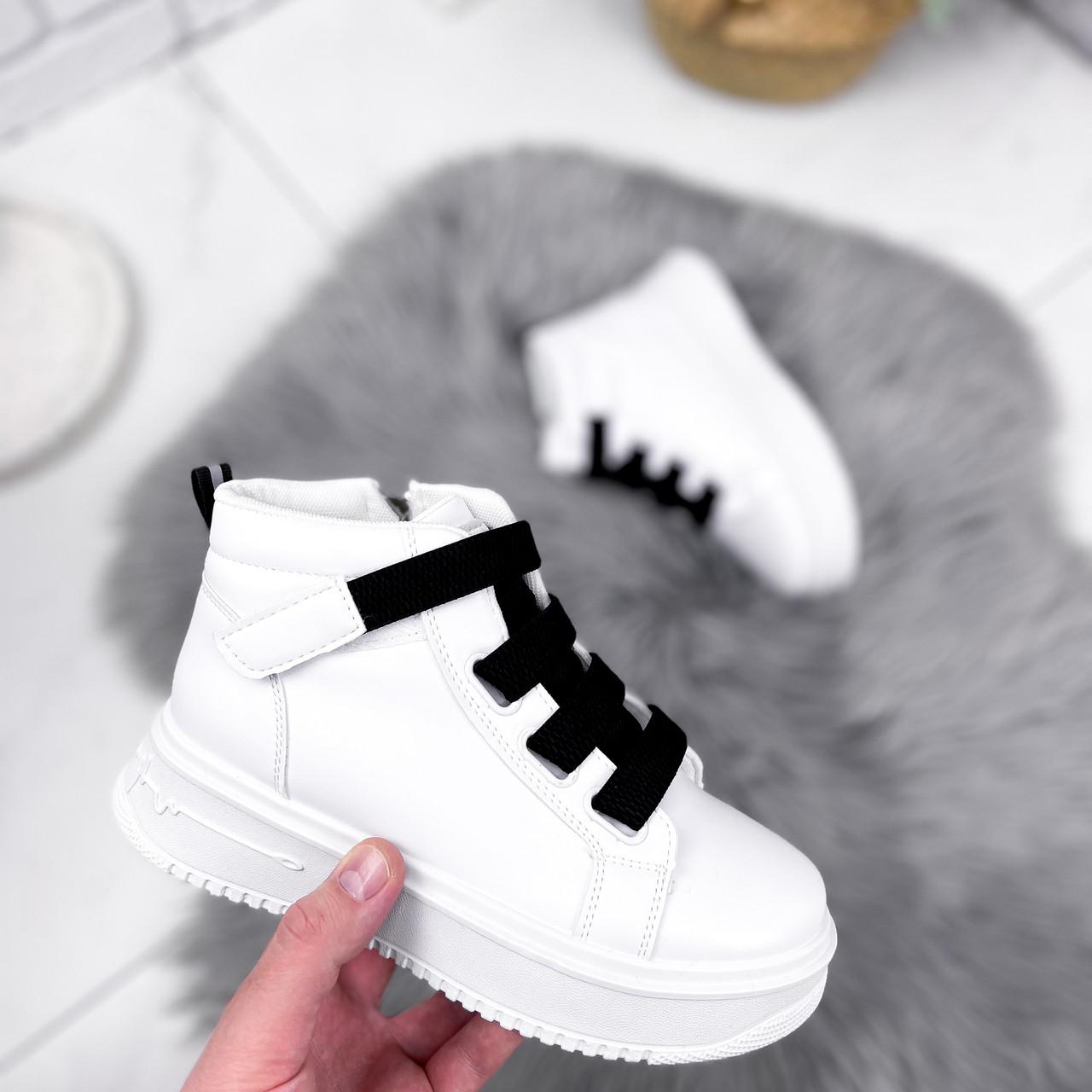 Ботинки женские Nies белые ЗИМА 2806
