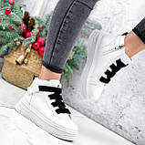 Ботинки женские Nies белые ЗИМА 2806, фото 4