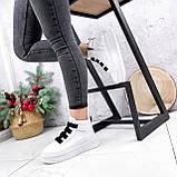 Ботинки женские Nies белые ЗИМА 2806, фото 5