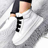 Ботинки женские Nies белые ЗИМА 2806, фото 6