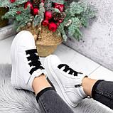 Ботинки женские Nies белые ЗИМА 2806, фото 7