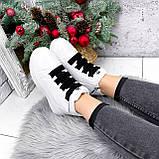 Ботинки женские Nies белые ЗИМА 2806, фото 8