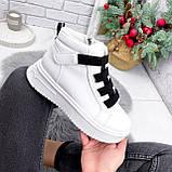 Ботинки женские Nies белые ЗИМА 2806, фото 9