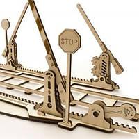 Механическая модель Рельсы с ж/д переездом // Механічна модель конструктор «Рейки»