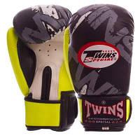Перчатки боксерские PVC на липучке TWINS TW-2206 (р-р 4-12oz, цвета в ассортименте) Код TW-2206
