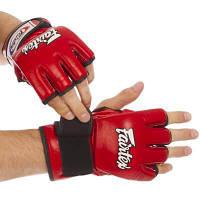 Перчатки для смешанных единоборств MMA кожаные FAIRTEX FGV12 (р-р M-XL, цвета в ассортименте) Код FGV12