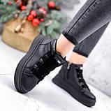 Ботинки женские Nies черные ЗИМА 2805, фото 2