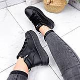 Ботинки женские Nies черные ЗИМА 2805, фото 4