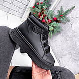 Ботинки женские Nies черные ЗИМА 2805, фото 5