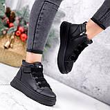 Ботинки женские Nies черные ЗИМА 2805, фото 6