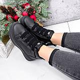 Ботинки женские Nies черные ЗИМА 2805, фото 7