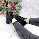 Ботинки женские Nies черные ЗИМА 2805, фото 8