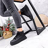 Ботинки женские Nies черные ЗИМА 2805, фото 9