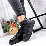 Ботинки женские Nies черные ЗИМА 2805, фото 10