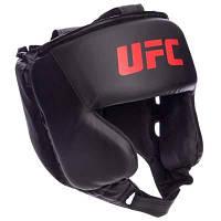 Шлем боксерский в мексиканском стиле PU UFC UHK-69759 (р-р M, черный) Код UHK-69759