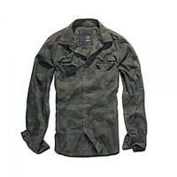 Рубашка Brandit Slimfit Shirt WOODLAND S Камуфлированный 4005.10, КОД: 1126027