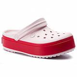 Женские кроксы Crocs Platform светло-розовые 39 р., фото 5