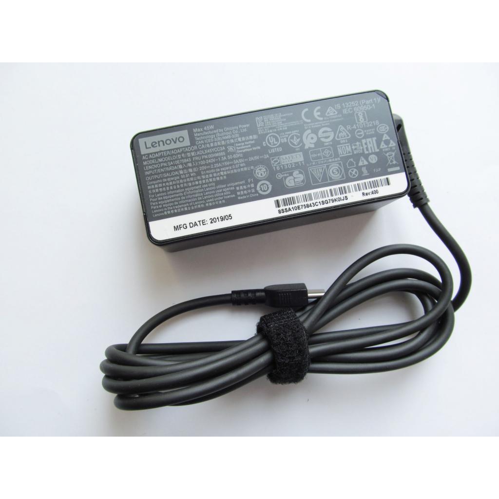 Блок живлення до ноутбука Lenovo 45W 20V, 2.25 A +15V, 3A +9V, 2A +5V, 2A, роз'єм USB Type-C (ADLX45YCC3A /