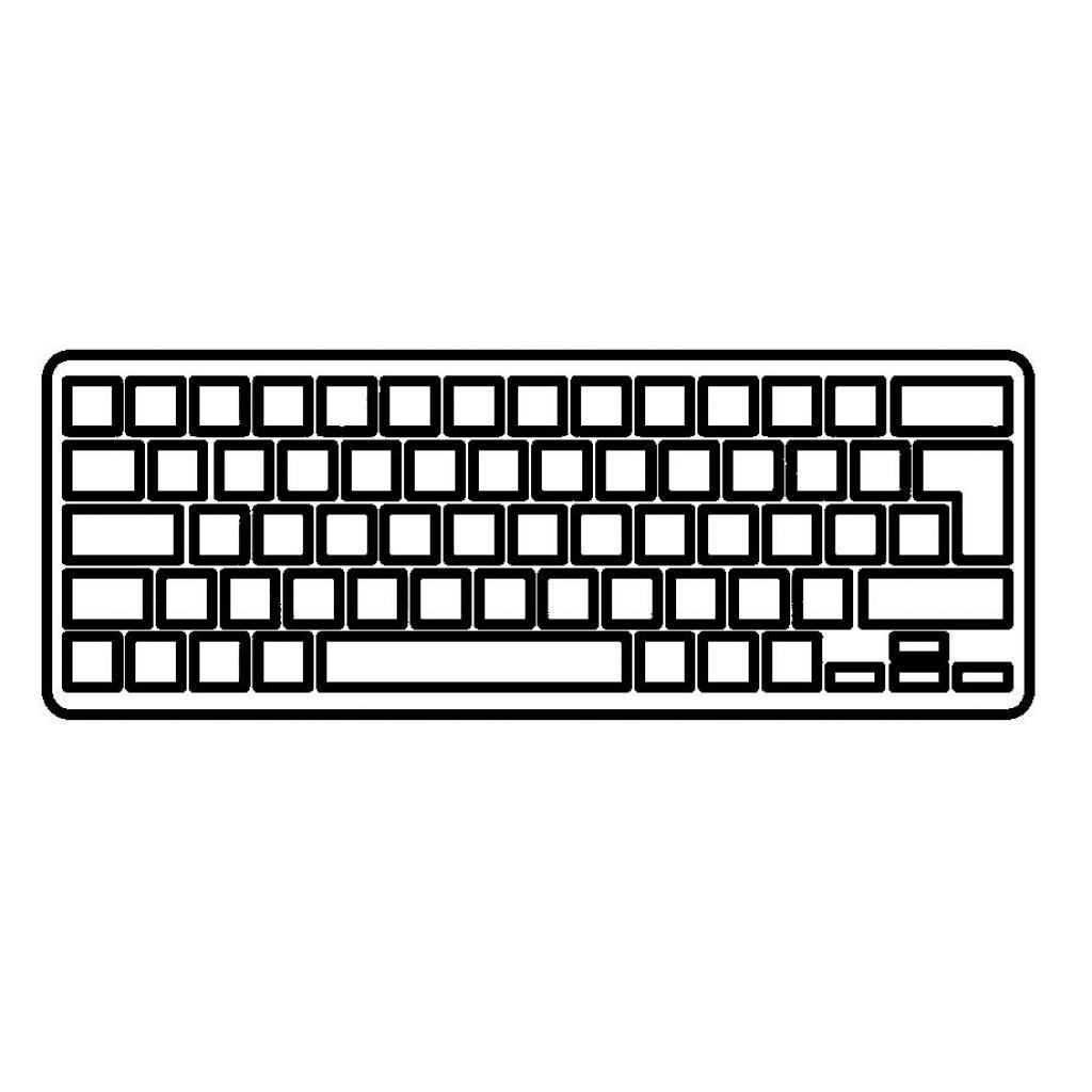 Клавіатура ноутбука ASUS EEE PC 1000H/1000НЕ чорна з білою рамкою UA