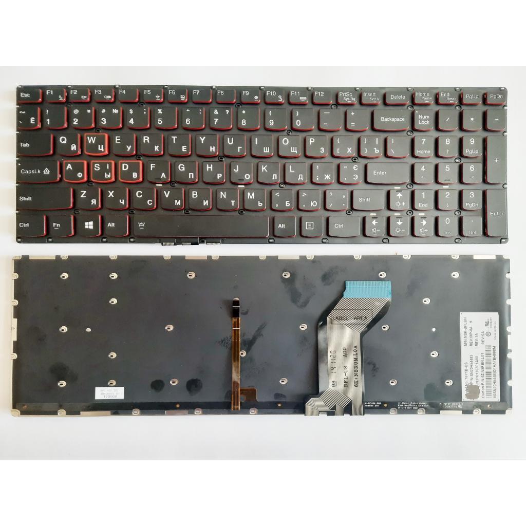 Клавиатура ноутбука Lenovo IdeaPad Y700-15 черная,подсв (A46091)