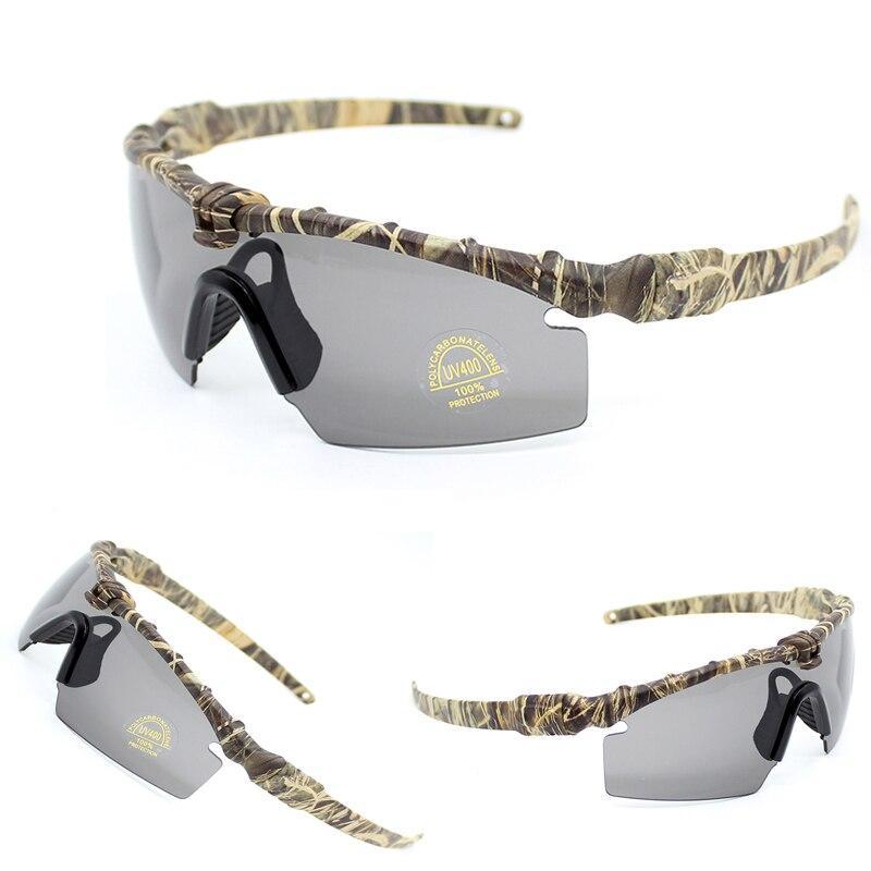 Камуфляжные тактические армейские защитные очки  с 3 сменными линзами