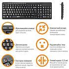 Клавіатура Piko KB-008 Black (1283126467103) USB, фото 3
