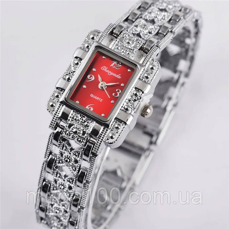 Наручные женские часы, часы браслет, цвет серебро