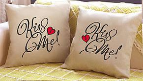 """Набір з двох подушок """"Kiss Me"""""""