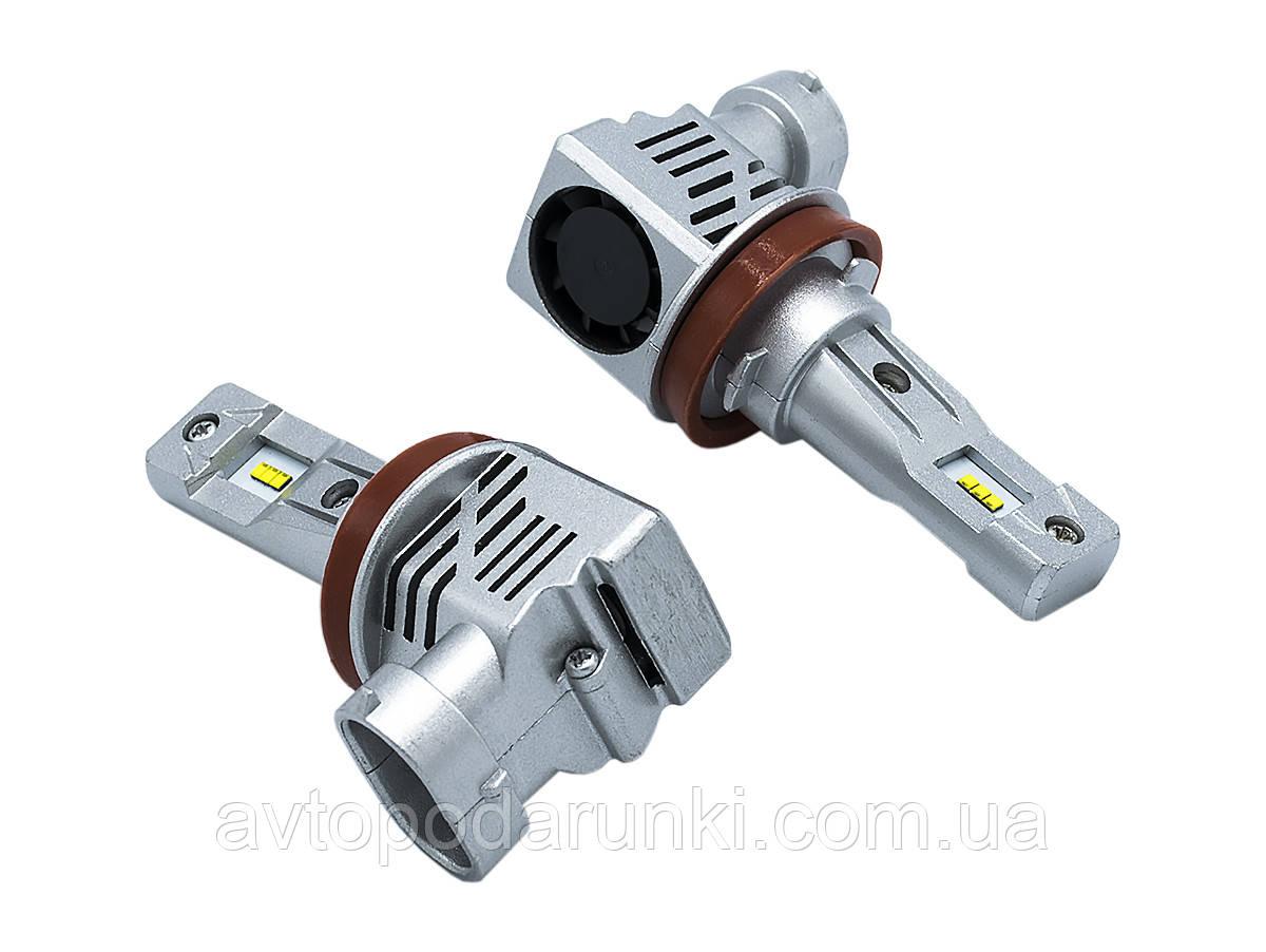 Светодиодные лампы LED-M6 55Вт 10000Лм 6500К 9-32v  PHILIPS ZES чип Цоколь H11