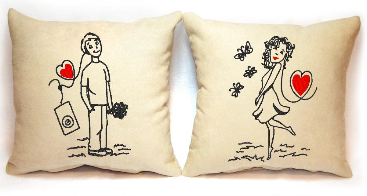 """Набор из двух подушек """"На любовной волне"""""""