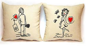"""Набір з двох подушок """"На любовному хвилі"""""""