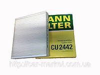 Фильтр салона Mann CU2442 CHEVROLET CRUZE 2009- OPEL ASTRA-J, MERIVA-B, INSIGNIA