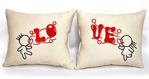"""Набір з двох подушок """"LOVE"""""""