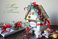Подарок Новогодний домик из конфет Рафаэлло