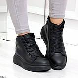 Модные высокие черные женские кроссовки кеды криперы по доступной цене, фото 3
