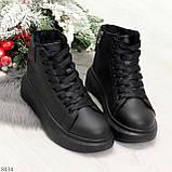Модные высокие черные женские кроссовки кеды криперы по доступной цене, фото 9